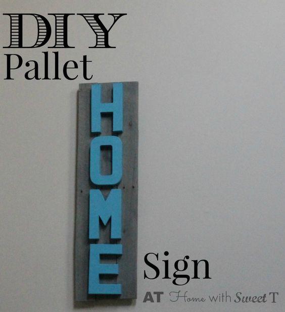 DIY Pallet Home Sign